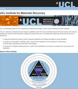 UCL Materials Discovery Choy